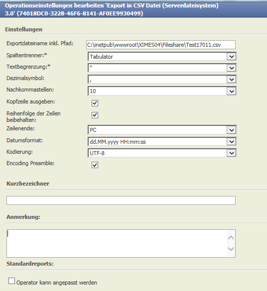 Export In Csv File Server File System 20 Tis Users Manual Ximes